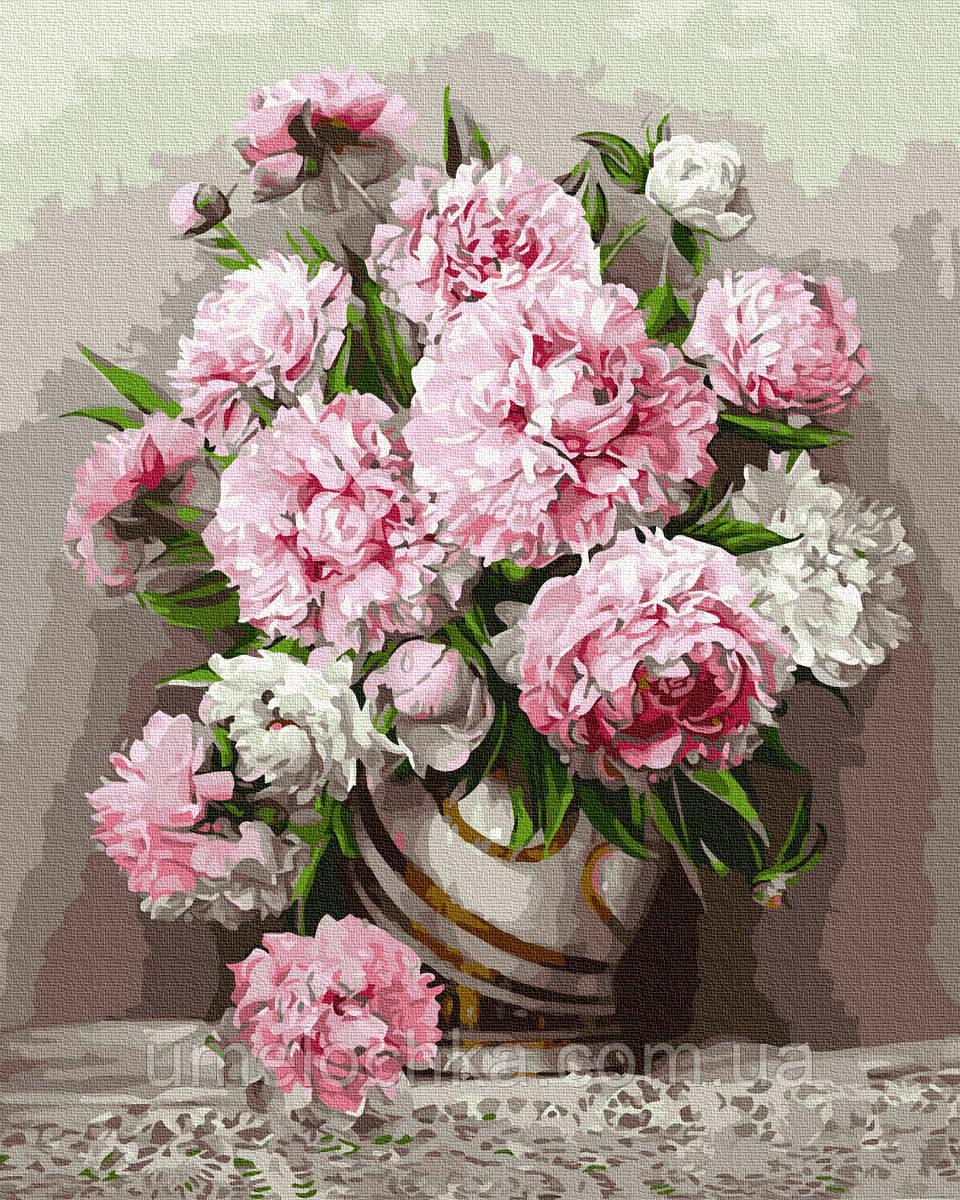 Картина по номерам  Роскошь пионов (BRM4740) 40 х 50 см