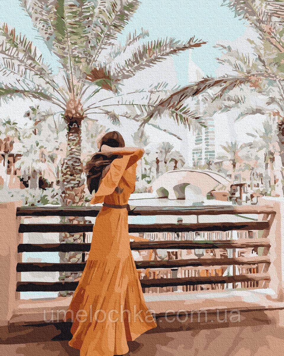Картина по номерам  Девушка в Дубае (BK-GX36297) 40 х 50 см (Без коробки)