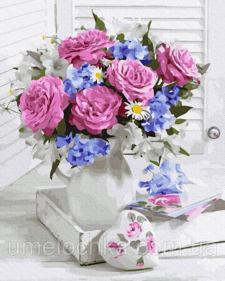 Картина по номерам  Красивый букет (BK-GX36532) 40 х 50 см (Без коробки)