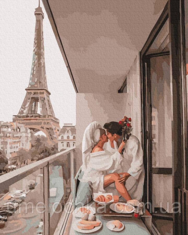 Раскраска по цифрам  Свидание в Париже (BK-GX37194) 40 х 50 см (Без коробки)