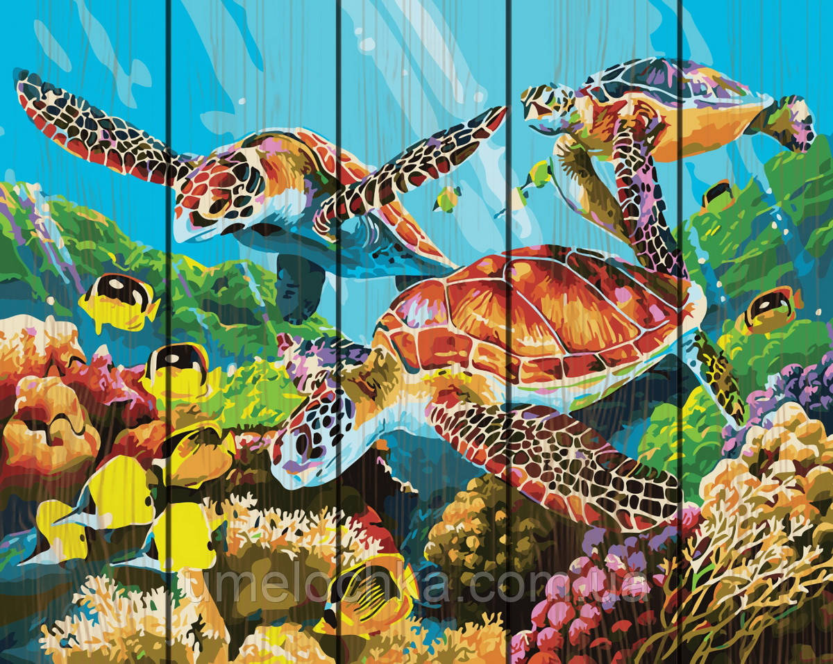 Картина по номерам Rainbow Art Подводный мир (RA-GXT29099) 40 х 50 см