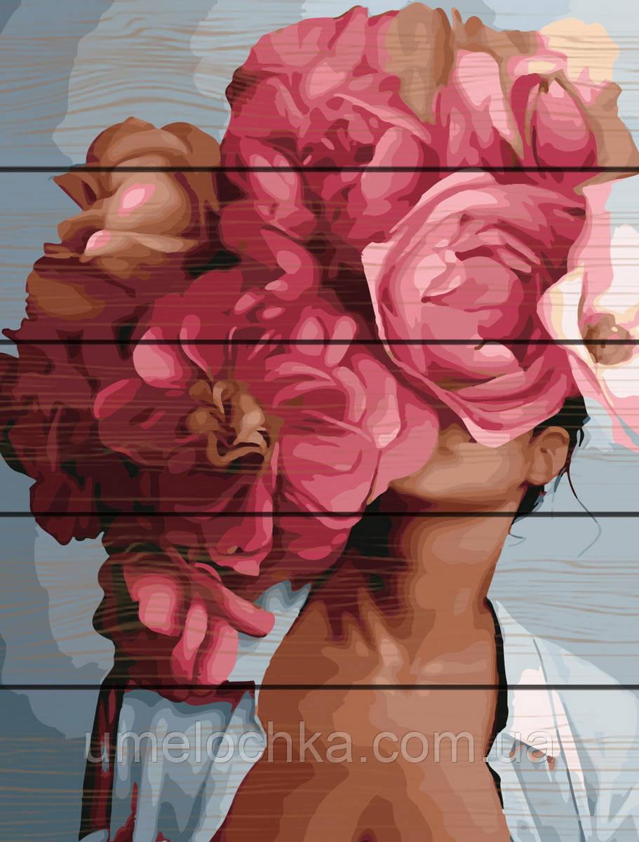 Раскраска по цифрам Rainbow Art Абстракция с пионами Эми Джадд (RA-GXT29276) 40 х 50 см