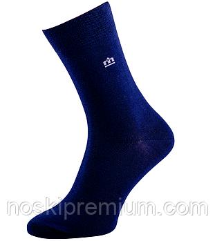 Шкарпетки чоловічі демісезонні бавовна Місюренко, 25 розмір, темно-сині, 01083