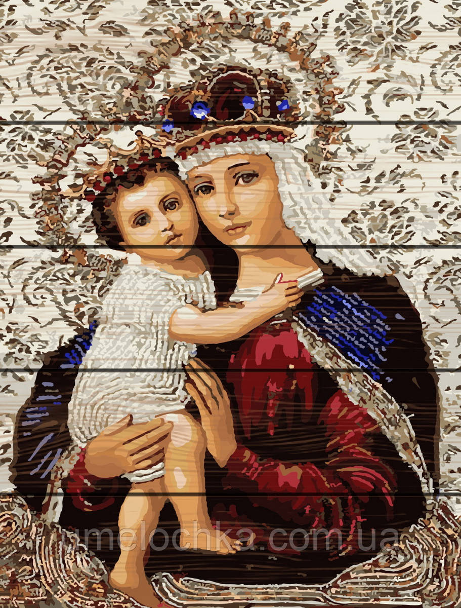 Картина по номерам Rainbow Art Икона Божией Матери (RA-GXT3475) 40 х 50 см