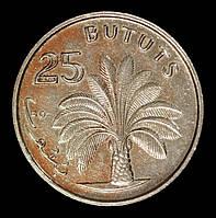 Монета Гамбии 25 бутутов 1971 г., фото 1