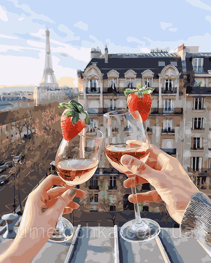 Картина по номерам Шампанское и клубника (BRM24907) 40 х 50 см
