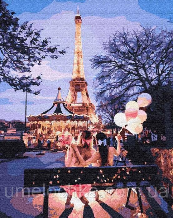 Раскраски по номерам  Вечер в Париже (BRM32088) 40 х 50 см