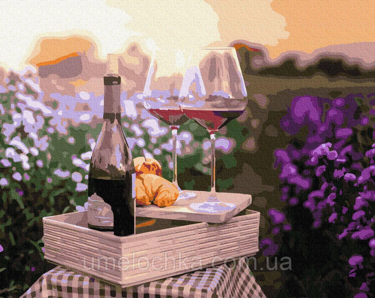 Картина по номерам Вино в цветах (BRM32336) 40 х 50 см