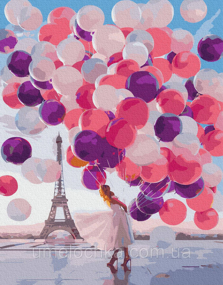 Картина по номерам Девушка с шариками (BRM36635) 40 х 50 см