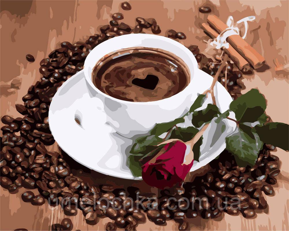 Рисунок по цифрам Приглашение на кофе (BRM8117) 40 х 50 см