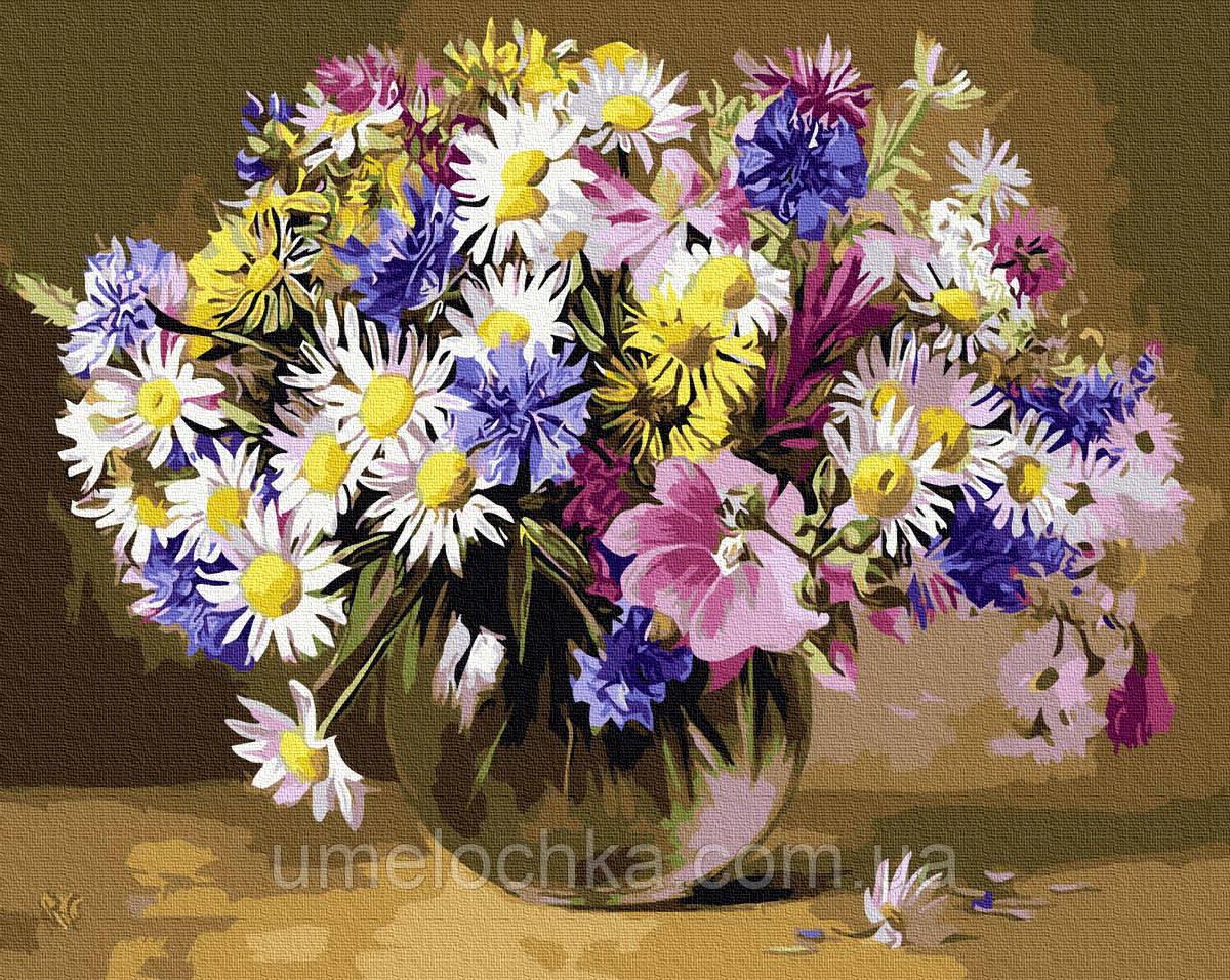 Картина по номерам Полевые цветы (BRM9767) 40 х 50 см