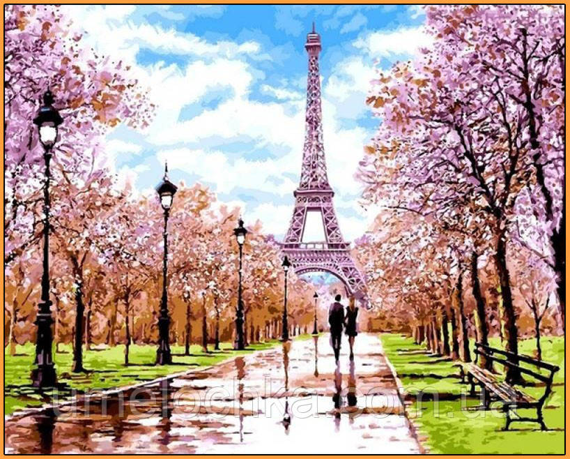 Картина по номерам Babylon Апрель в Париже (NB1198R) 40 х 50 см