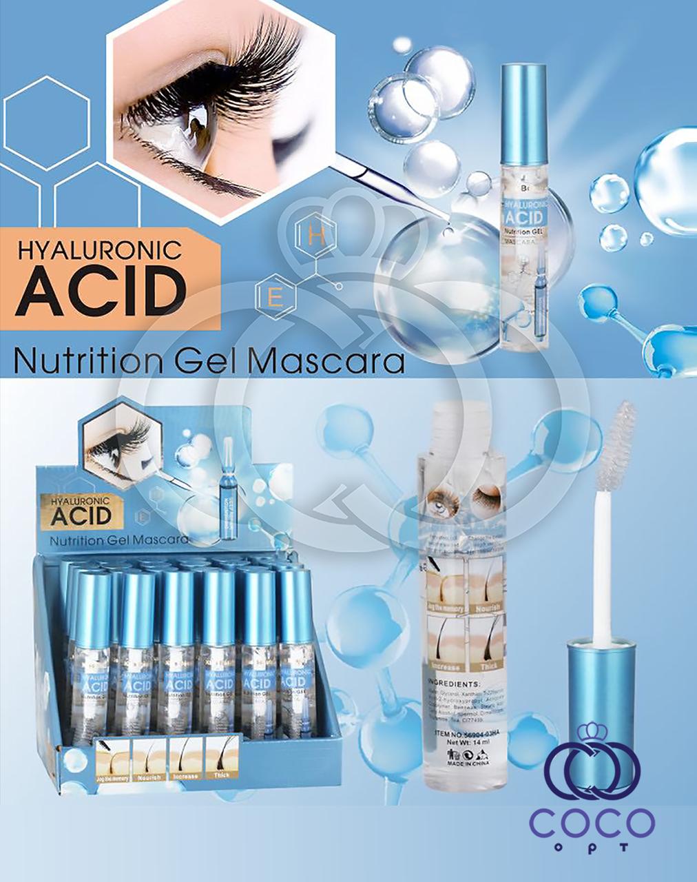 Гель для укрепления и ускорения роста ресниц Hyaluronic Acid Nutrition Gel с гиалуроновой кислотой