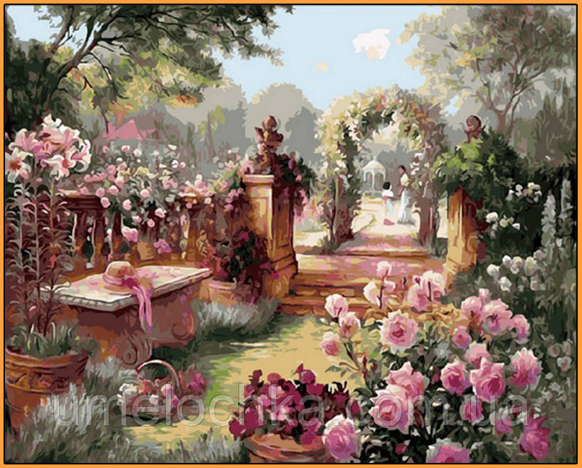 Картина по номерам Babylon Райский сад Худ Бренда Берк (NB1442R) 40 х 50 см