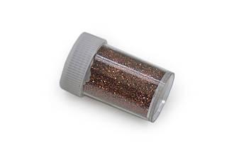 Глиттер/ Блестки, 15 грамм, коричневый