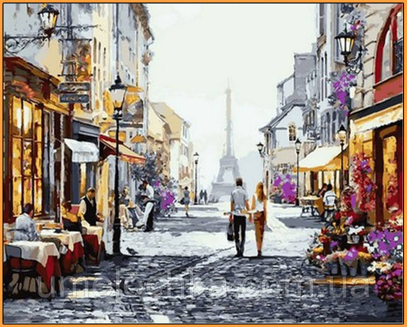 Картина по номерам Babylon Летний вечер в Париже Худ Ричард Макнейл (NB777R) 40 х 50 см