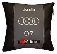 Подушка автомобильная с вышивкой марки ауди Audi
