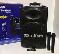 Портативная колонка Su-Kam/1000W BT-120D +2 mic+ BT