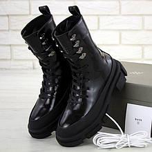 Женские ботинки в стиле Lost General x Both Gao High, кожа, черный, Вьетнам