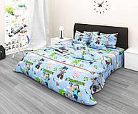 Комплект детского постельного полуторного белья Майнкрафт, Бязь Люкс, фото 1