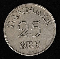 Монета Дании 25 эре 1949 г., фото 1