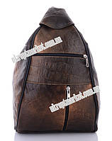 "Рюкзак женский F3031 brown (х36 коричневый) ""Enigma"" LG-1613"
