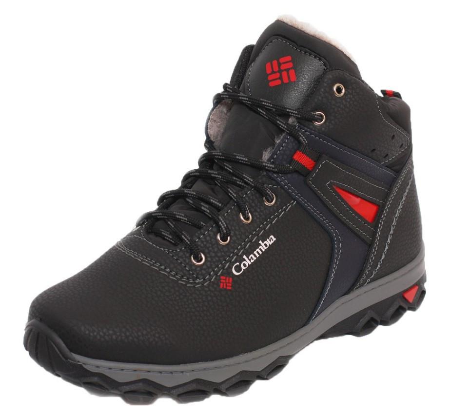 Мужские высокие зимние ботинки черные прошитые Kindzer 1275200030