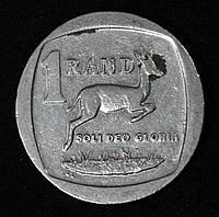 Монета Южной Африки 1 рэнд 2004 г. Газель, фото 1