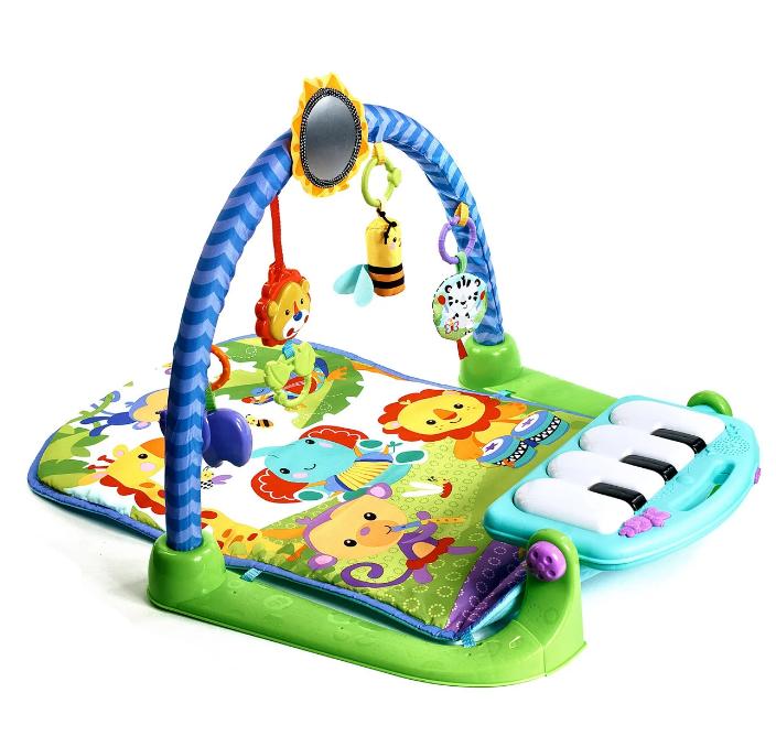 Дитячий розвиваючий ігровий килимок з піаніно Fitch Baby. Подарунок для новонародженого