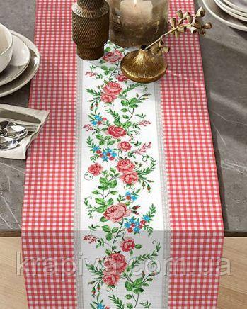 Дорожка раннер для стола хлопок интерьерная, скатерть на стол пасхальная, раннер на стіл, скатертина