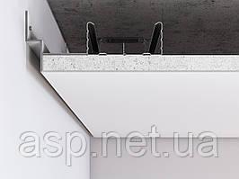 Алюмінієвий профіль тіньового шва по периметру примикання стіна-стеля для шва 12 мм. Колір білий (RAL9003)