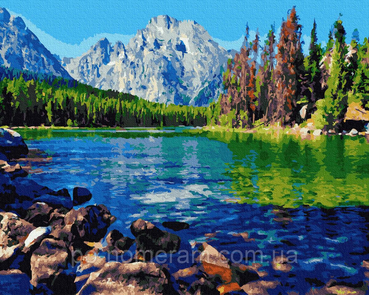 Картина по номерам BrushMe Горный пейзаж (BRM36073) 40 х 50 см