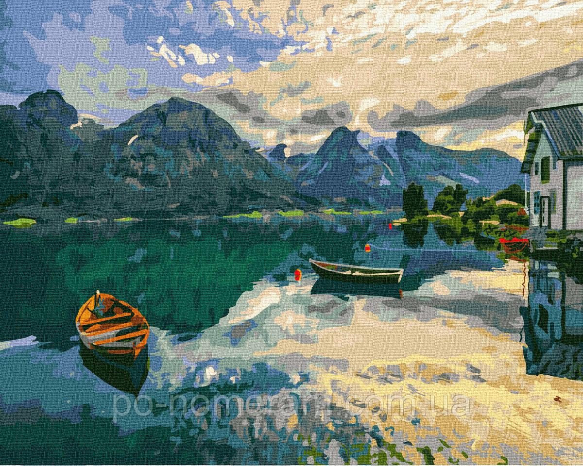 Картина по номерам BrushMe Вид на озеро Комо (BRM30190) 40 х 50 см