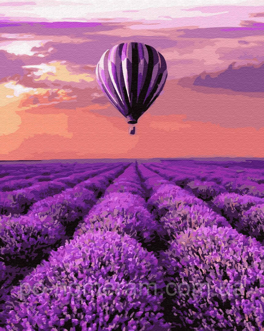 Картина по номерам BrushMe Воздушный шар в Провансе (BRM32305) 40 х 50 см