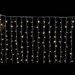 Уличная Гирлянда Бахрома 8x0,6 метра 120 LED, 20 нитей, 220В, IP55. Наружная Гирлянда, Золото, AL-1794-65