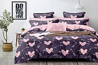 Двуспальный комплект постельного белья 180х220 Ранфорс_хлопок 100% (16030)