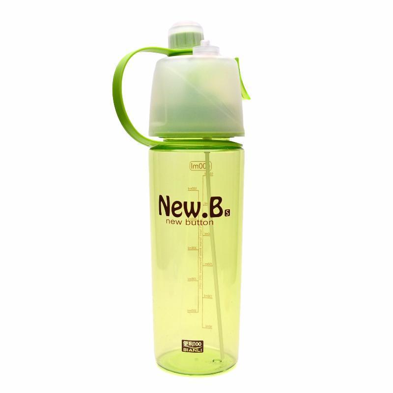Пляшка для води New B 600 мл (Зелена) упаковка потерта) (md8015-g)