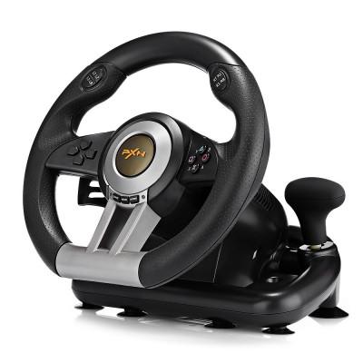 Руль с педалями PXN V3 Pro с двойной вибрацией (PC/PS3/PS4/X-ONE/SWITCH/USB) | Джойстик игровой