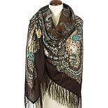 Испанское вино 1171-17, павлопосадский платок шерстяной  с шелковой бахромой, фото 2