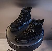 Женские теплые замшевые ботинки . Модель 4503, фото 2