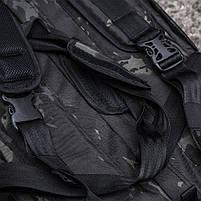 "Баул-рюкзак армейский 80л. ""Кочевник"" BLACK MULTICAM, фото 5"
