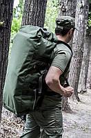 """Баул-рюкзак армейский 80л. """"Кочевник"""" OLIVE, фото 8"""