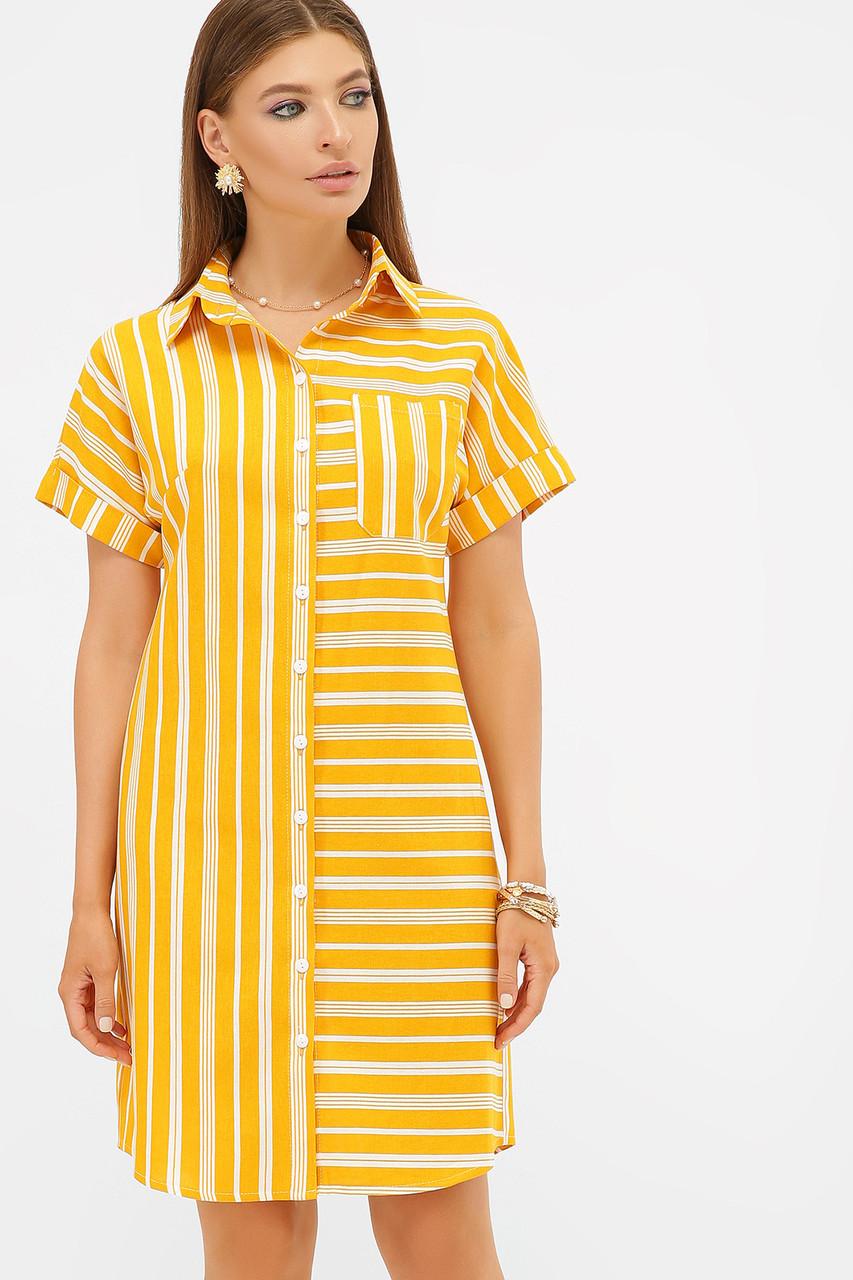 GLEM платье-рубашка Филена к/р
