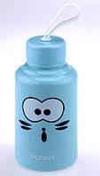 Бутылка с мордой FUNNY голубая