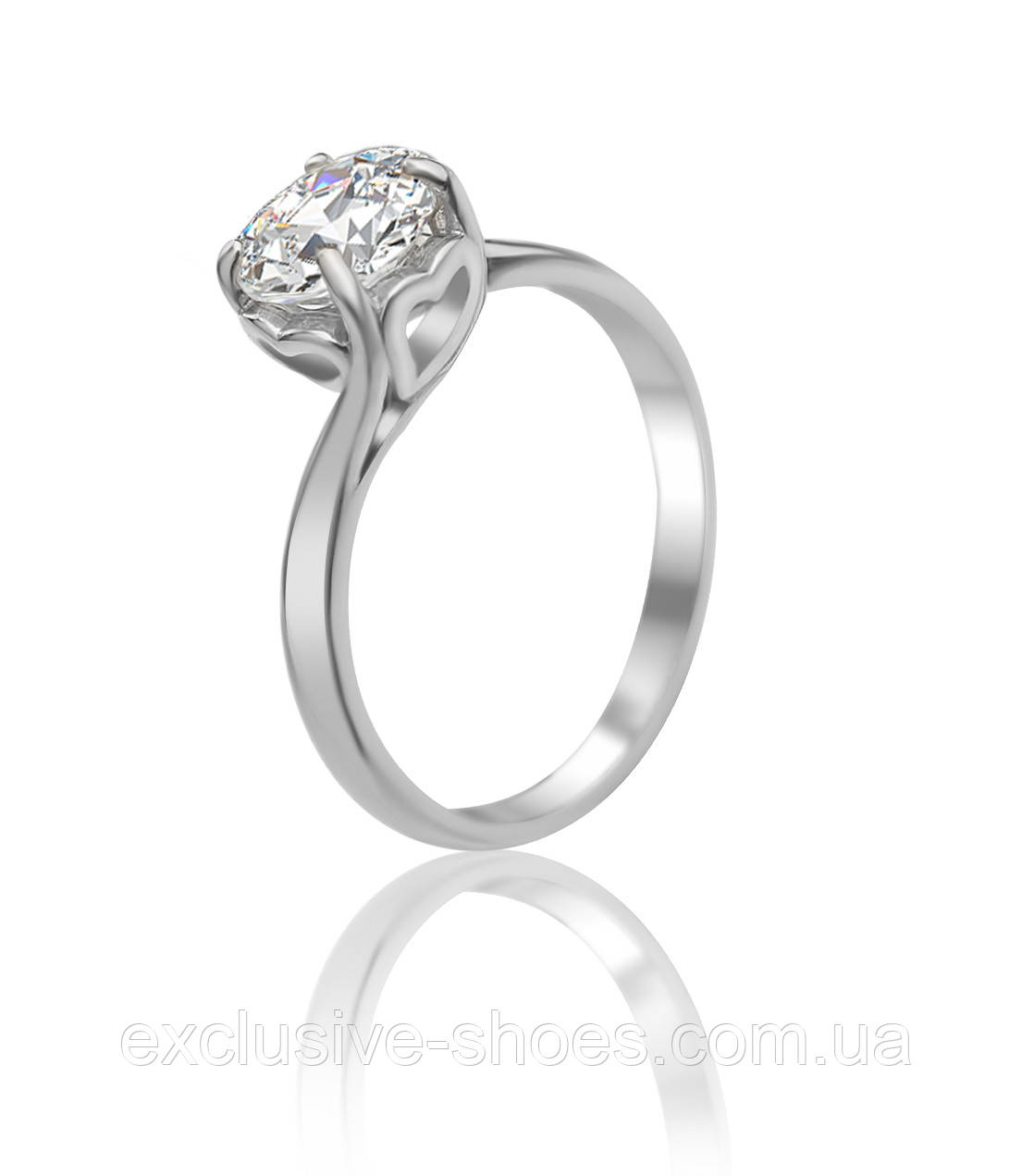 """Серебряное кольцо с крупным красивым фианитом"""" Star"""", арт-910091б"""