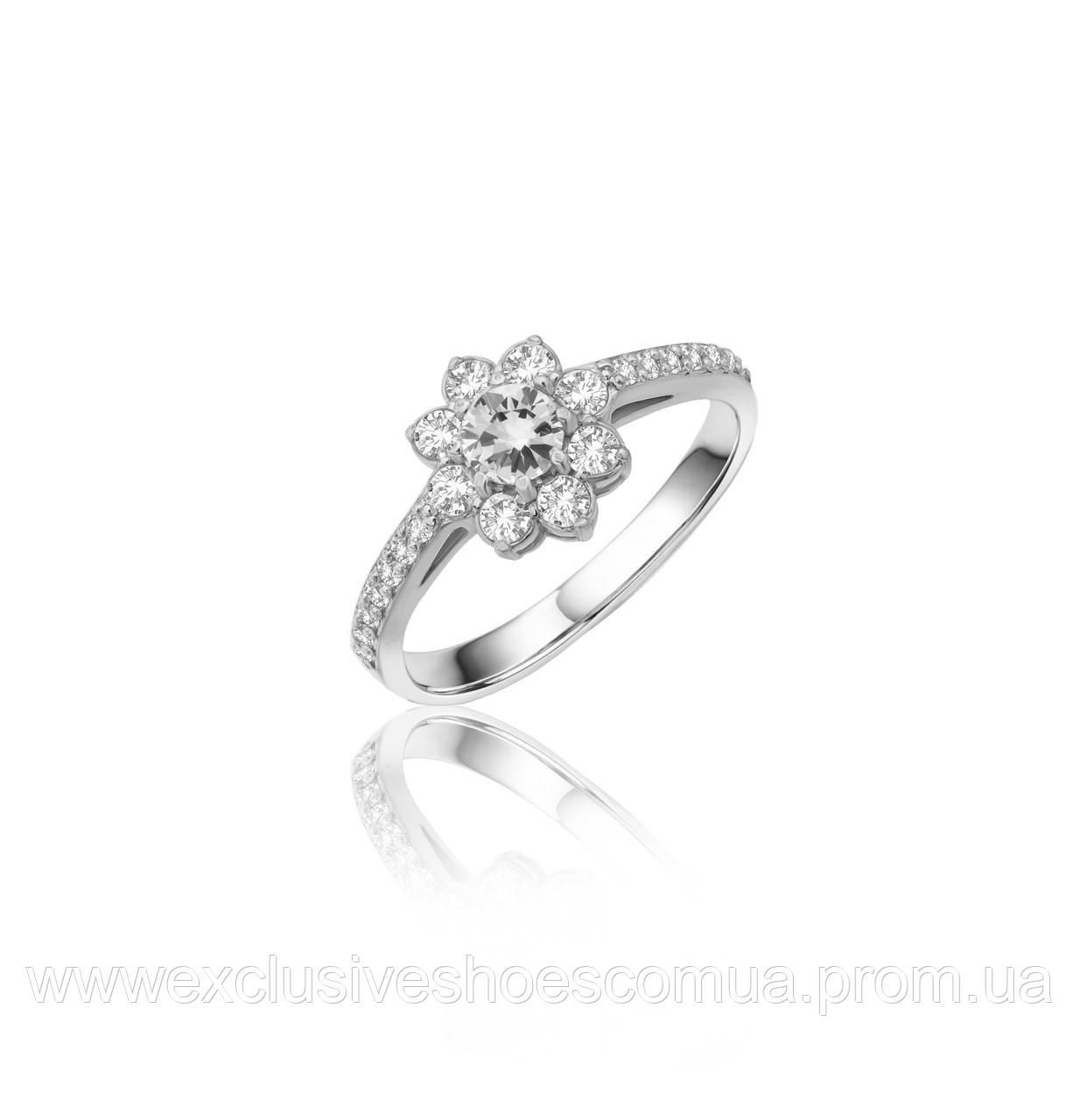 """Серебряное кольцо """"Николь"""" c белыми фианитами, арт-910057б"""