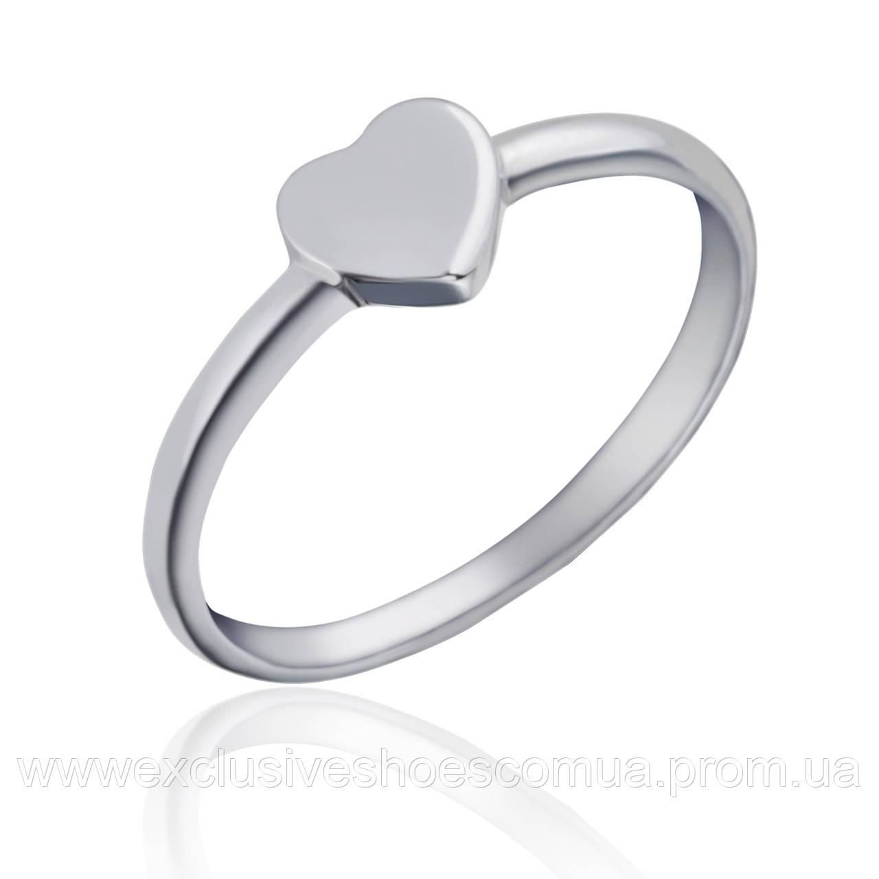 Серебряное кольцо с сердечком,арт-910111