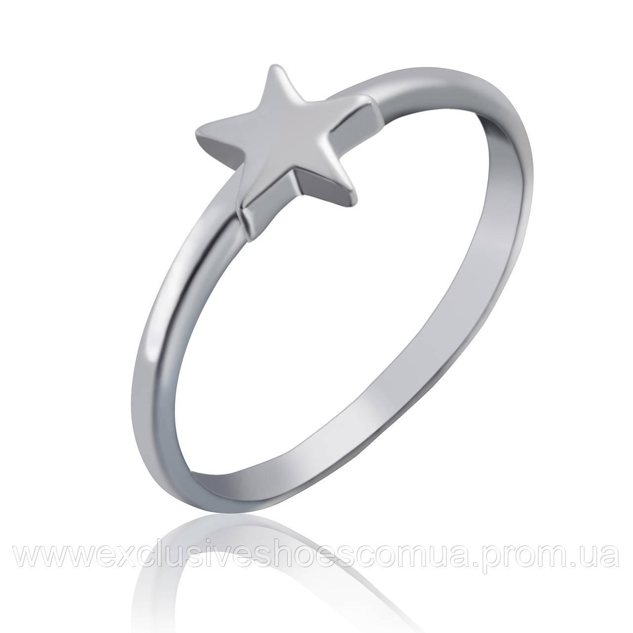 Серебряное кольцо со звездочкой, арт-910112
