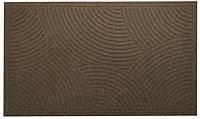 Коврик придверный на резиновой основе YPR Волны К-501 коричневый 40x60см