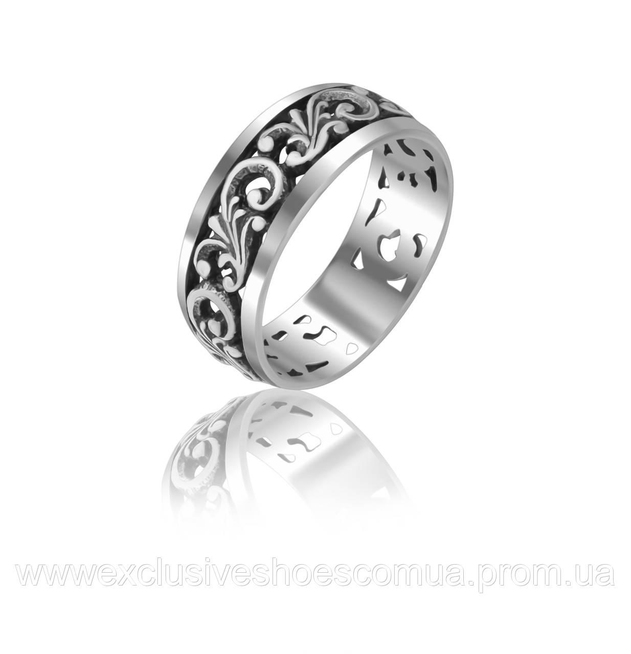 Серебряное кольцо с завитками